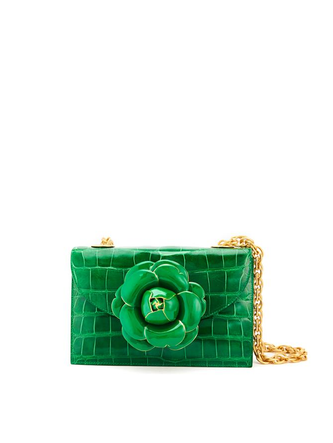 EMERALD ALLIGATOR TRO BAG Emerald