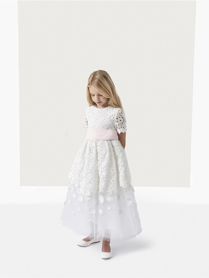 EMMA GUIPURE LACE AND TULLE DRESS
