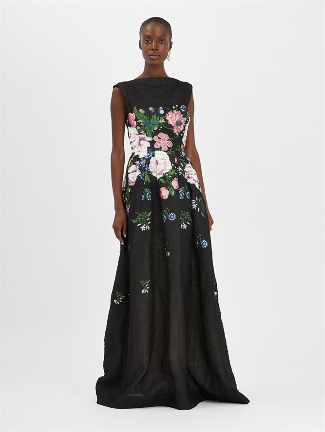 Botanical Jacquard Gown