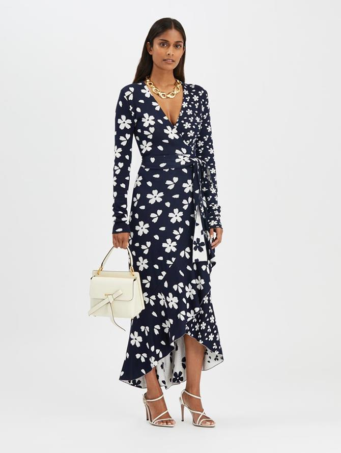 Flower Wrap Dress