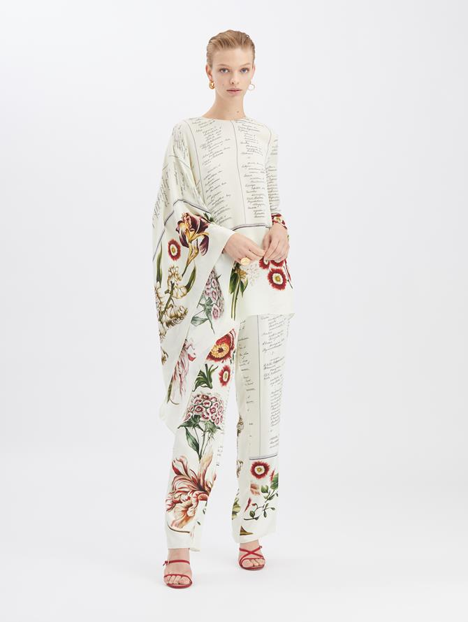 Floral Calligraphy Pants