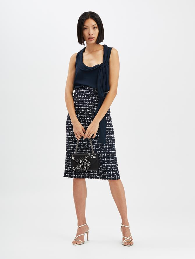 Check Pencil Skirt