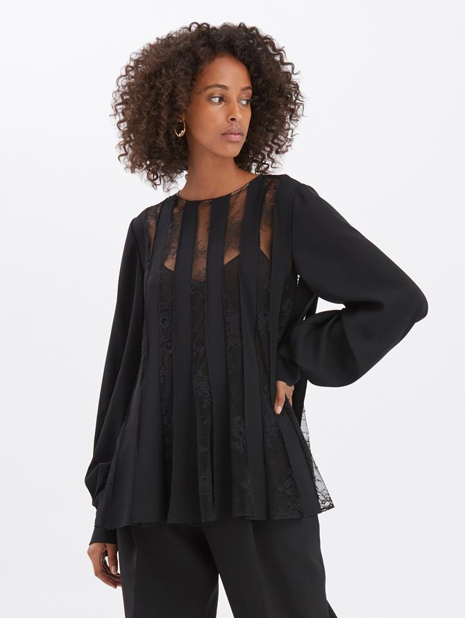Georgette and Lace Blouse