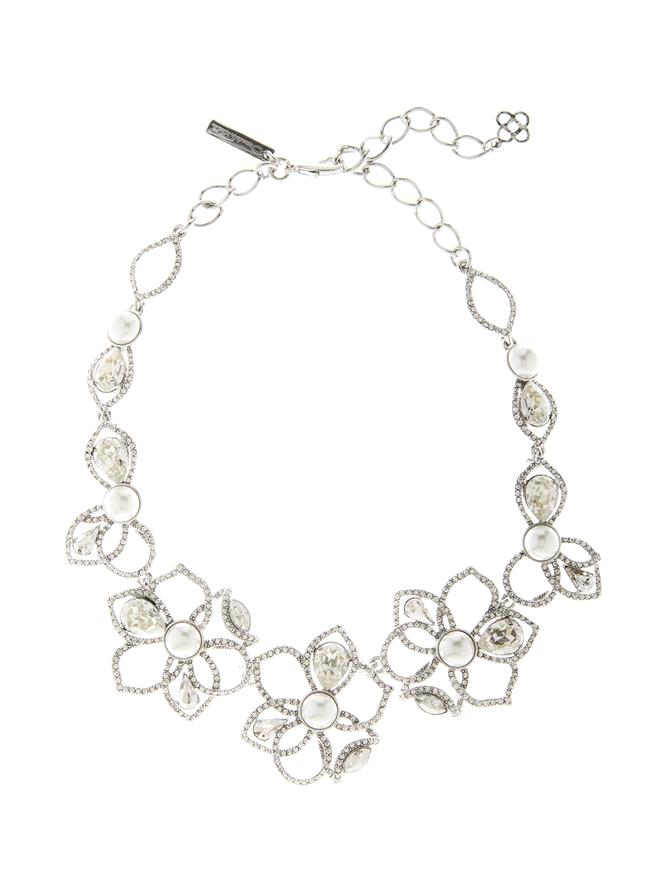 Pavé Petal Necklace