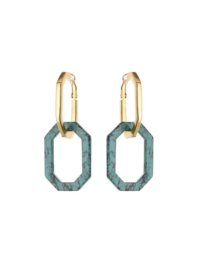 Octagon Link Earrings