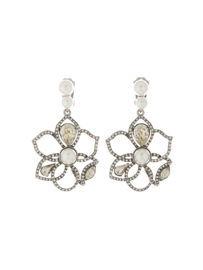 Pavé Petal Earrings