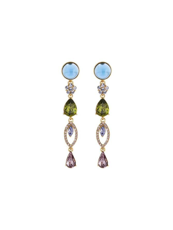 Crystal and Cabochon Earrings