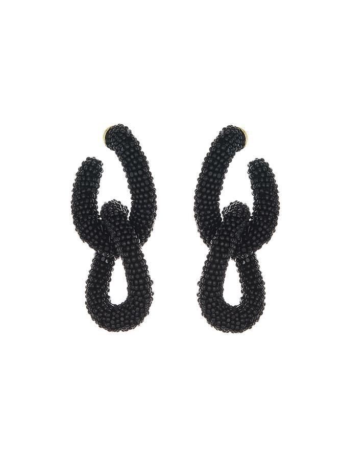 Beaded Link Earrings
