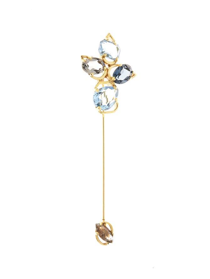 Crystal Offset Brooch