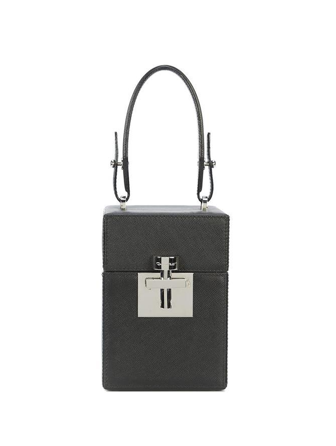 Black &  Silver Mini Alibi Bag Black