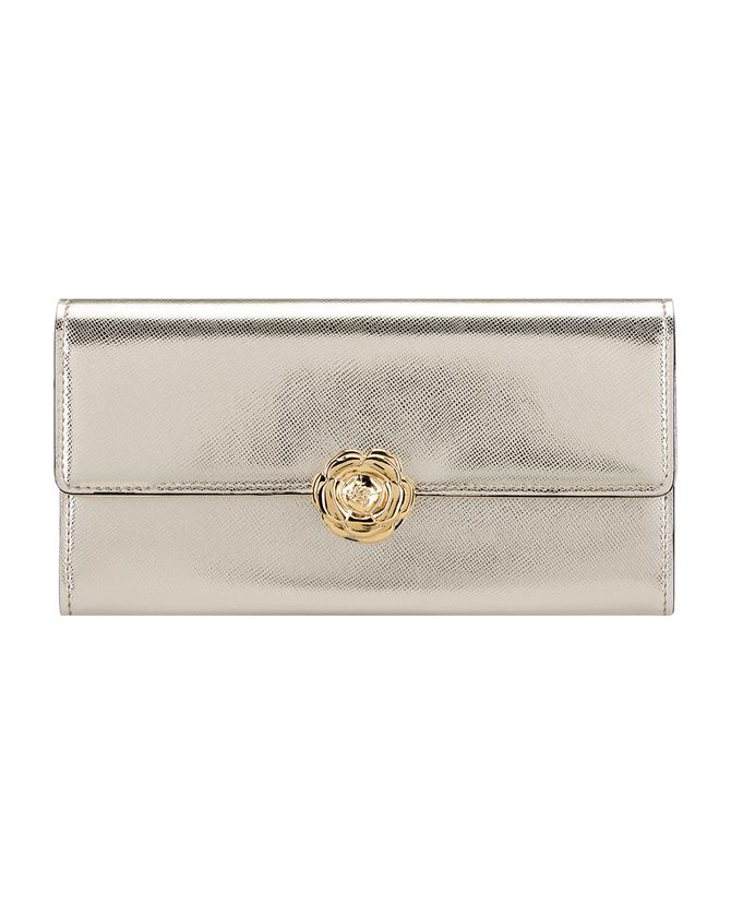 Light Gold Continental Wallet Light gold