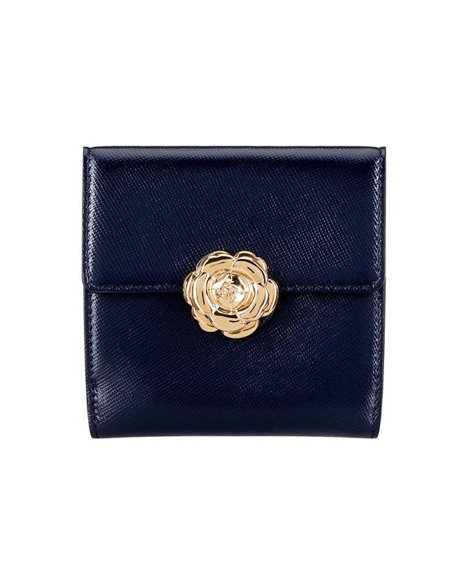 Navy French Wallet