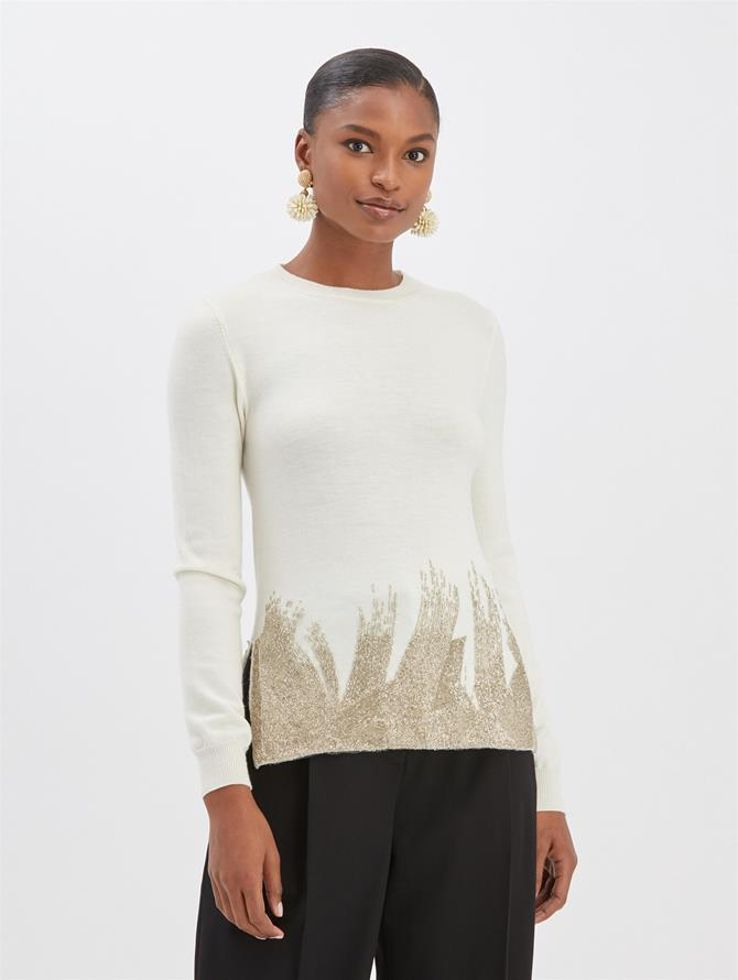 Embroidered Pullover Ivory