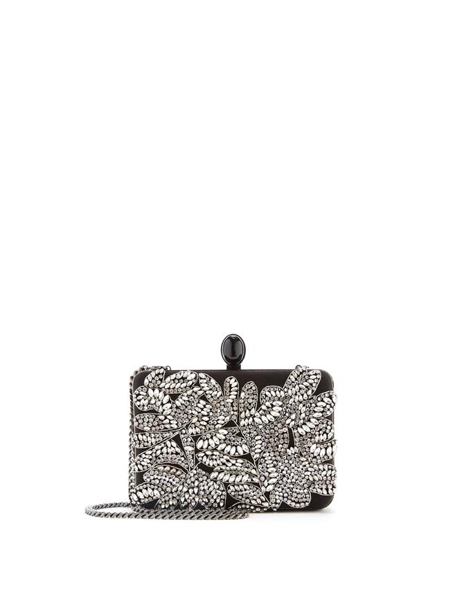 Satin Embroidered Rogan Clutch