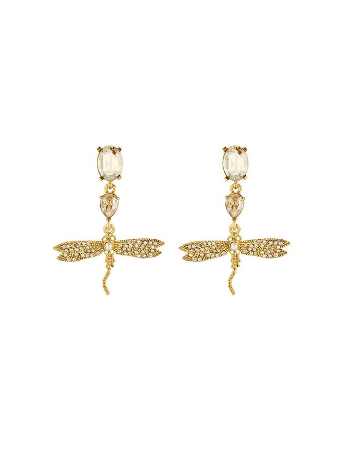 Pavé Dragonfly Earrings