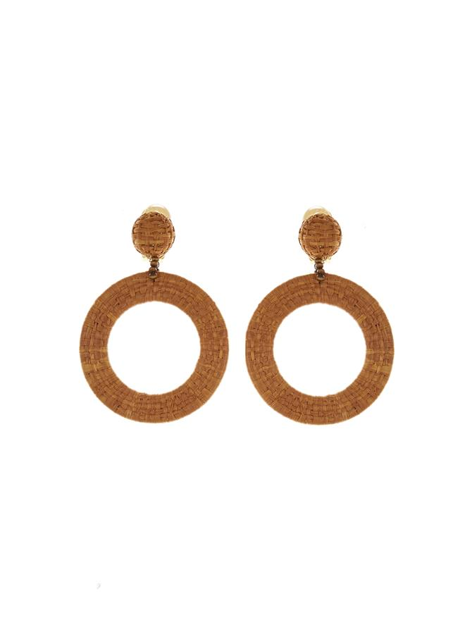 Tan Hoop Earrings