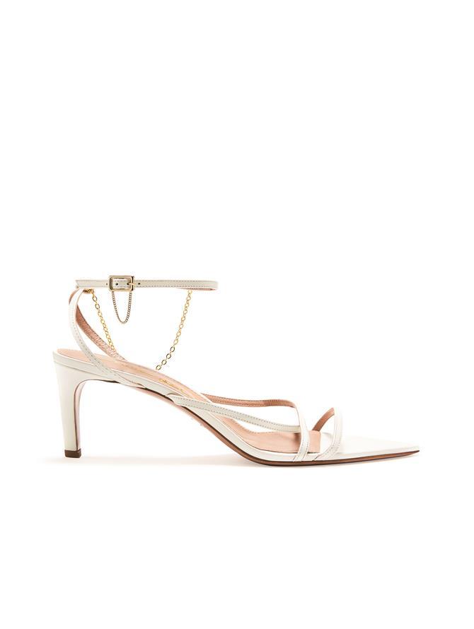 Ivory Asymmetric Sandals