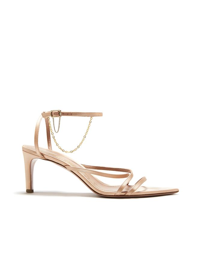 Nude Asymmetric Sandals
