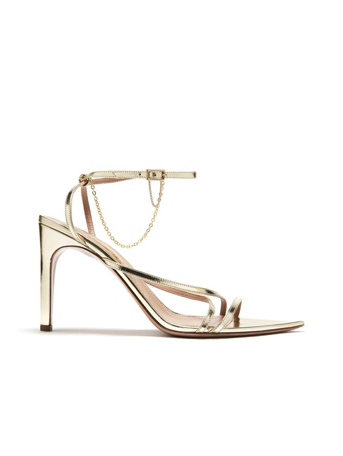 Gold Asymmetric Sandals