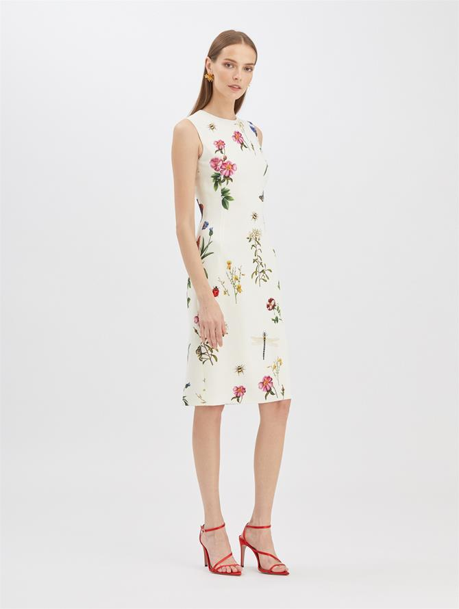 Butterfly Floral Pencil Dress