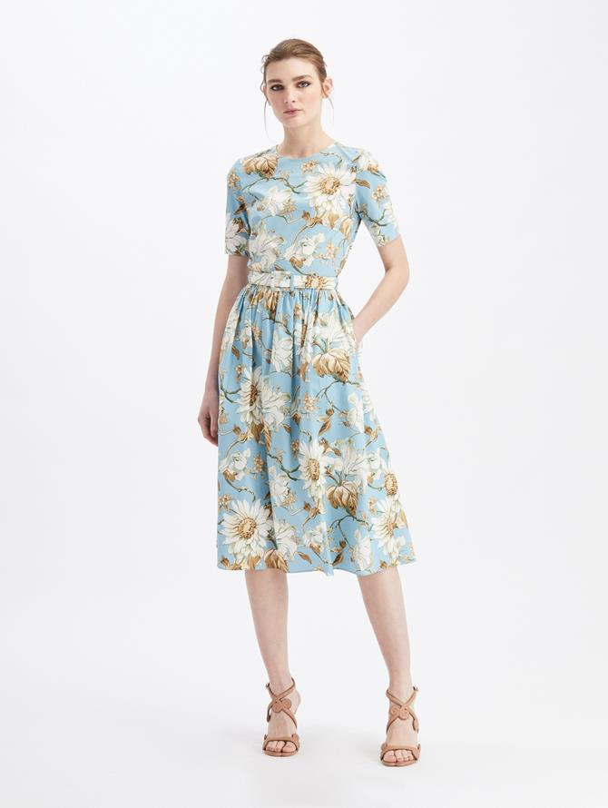 Iris and Daisy Midi Day Dress French Blue