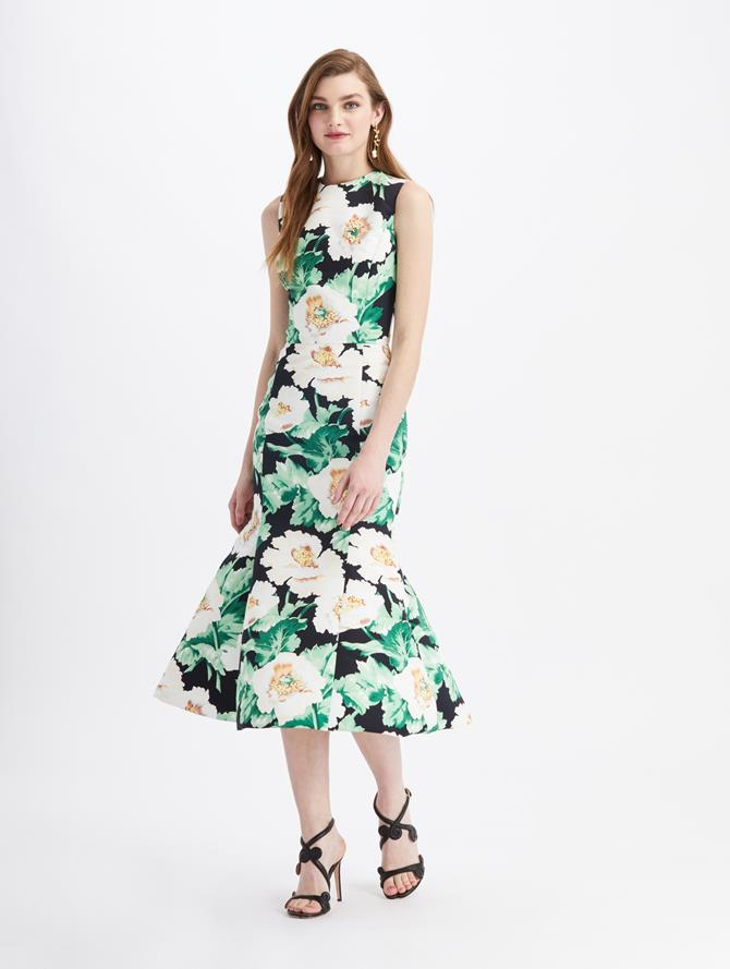Faille Sleeveless Cocktail Dress