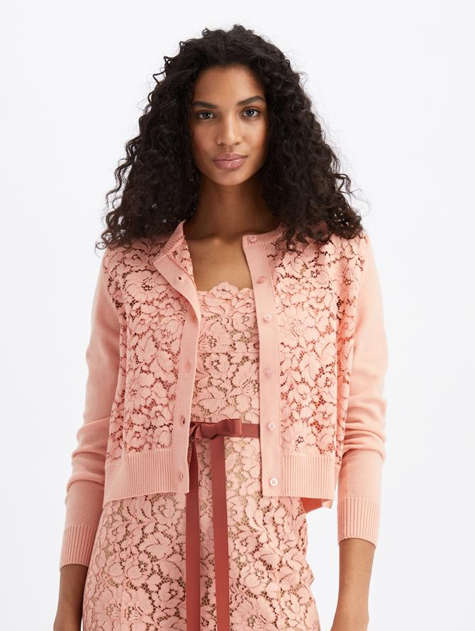 Lace Cardigan  Blush