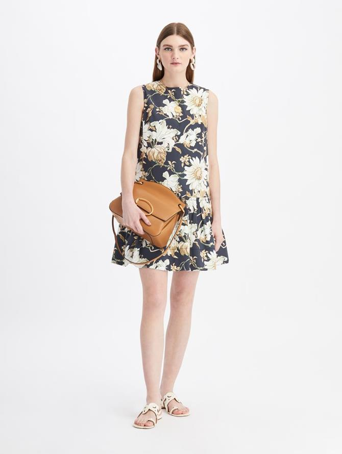 Daisy Print Mini Day Dress
