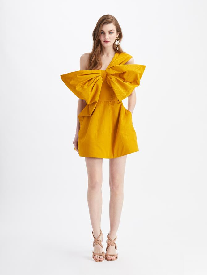 Bow Cocktail Mini Dress  Honey