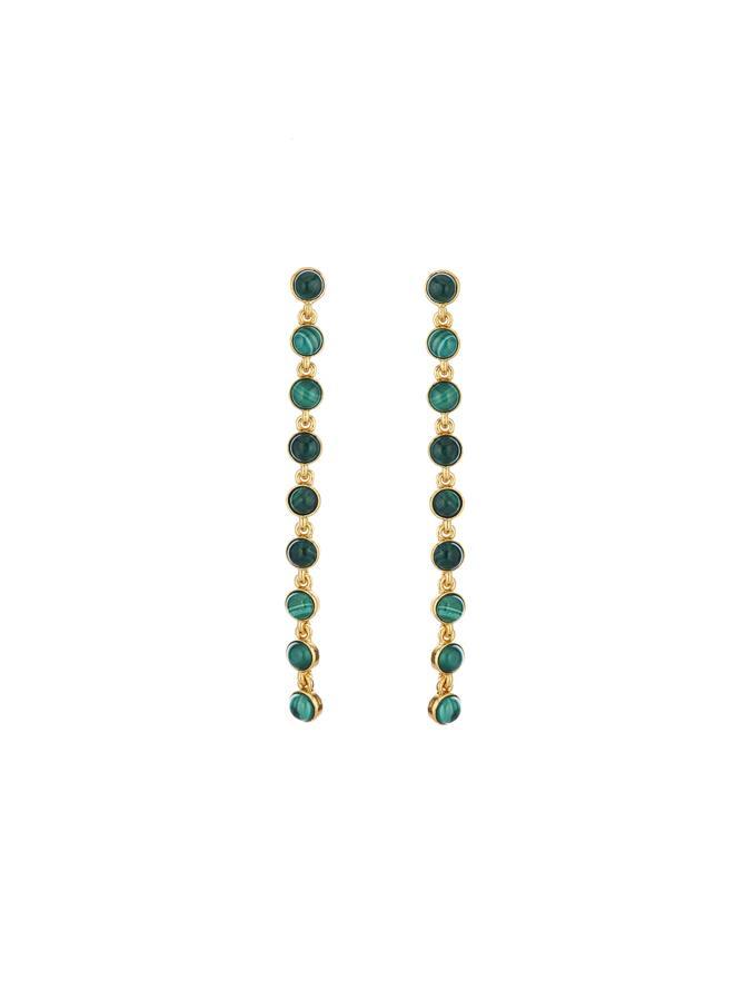 Green Malachite Cabochon Earrings Green Malachite