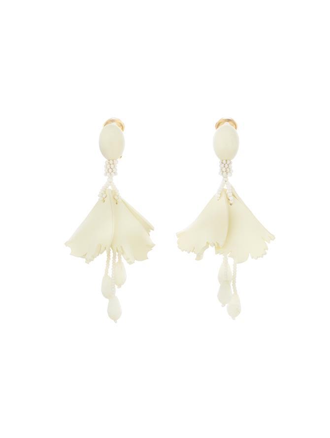 Mini Impatiens Earrings Ivory