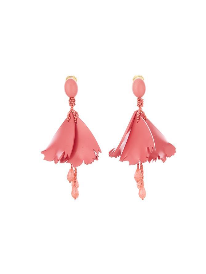 Mini Impatiens Earrings Sorbet