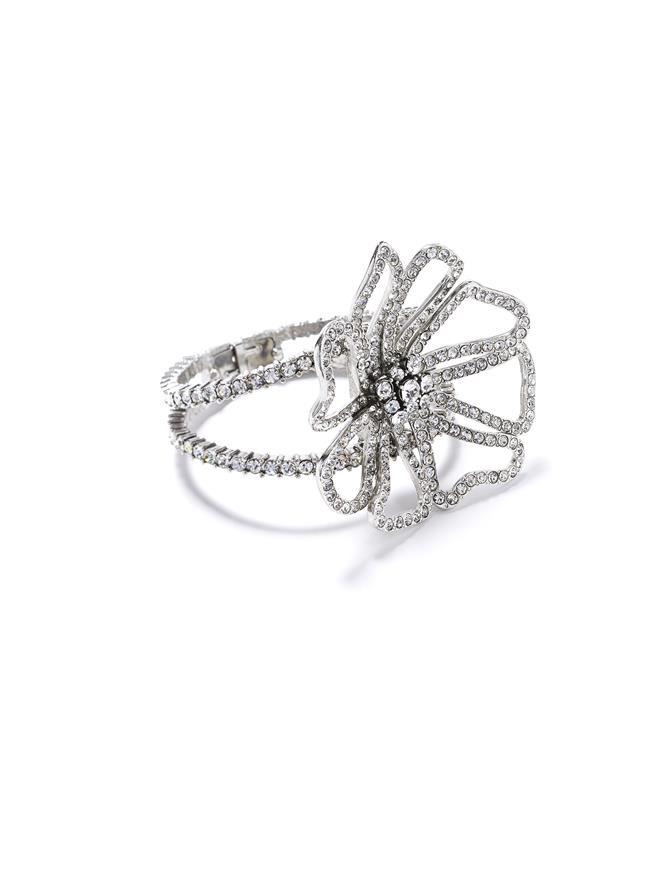 Pavé Flower Bracelet