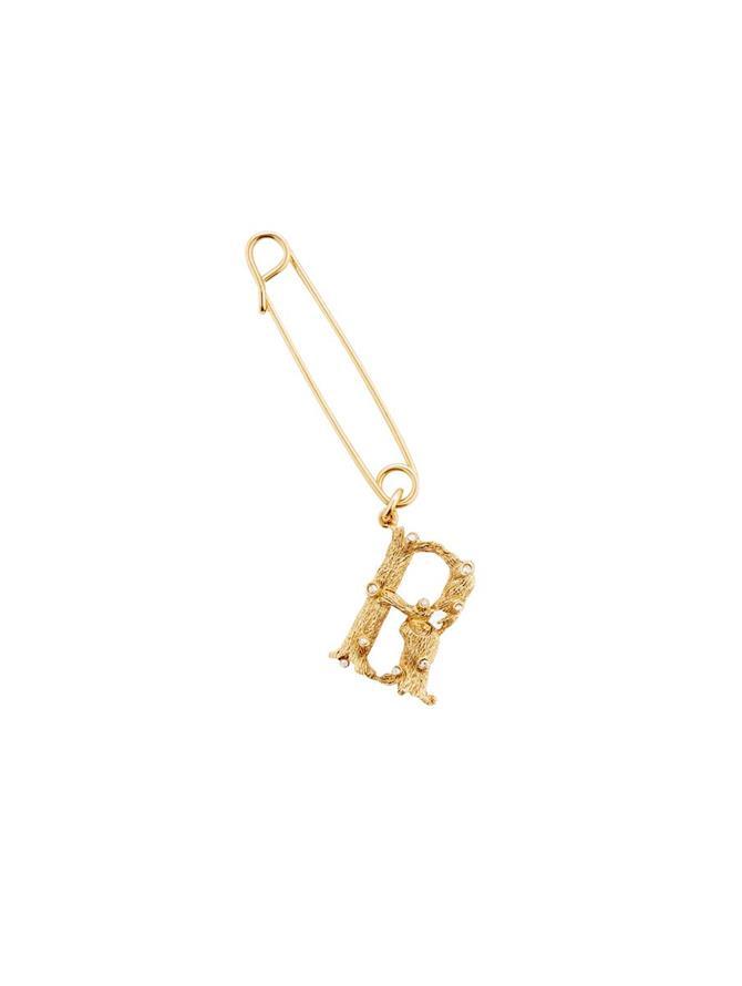 Letter R Brooch Gold