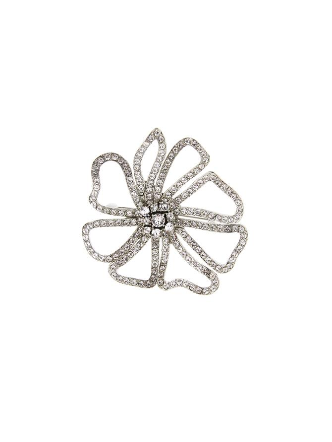 Pavé Flower Brooch