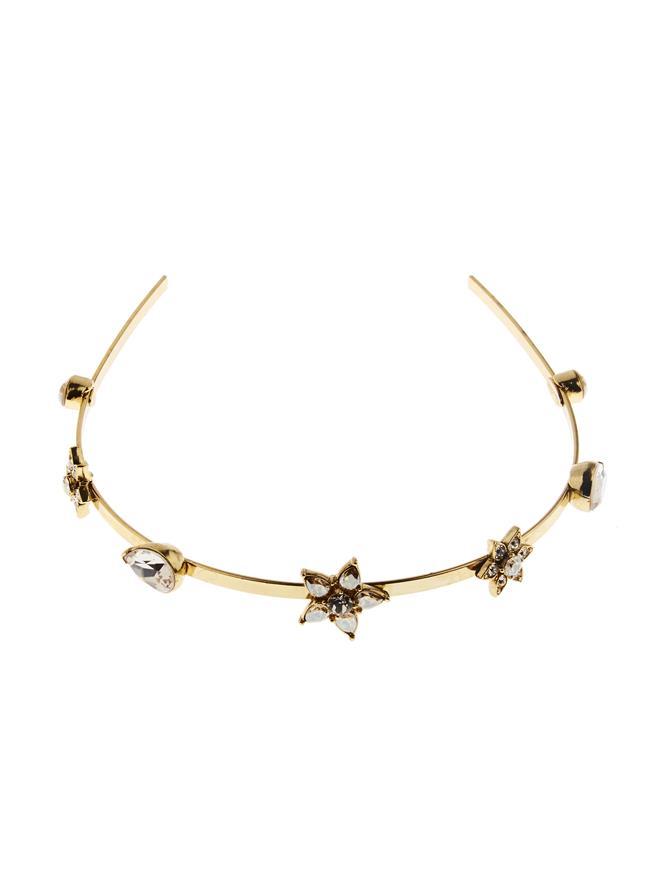 Flower Crystal Headband Cry Gold Shadow