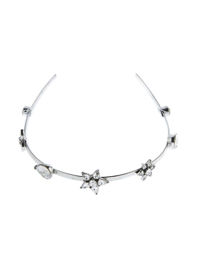 Flower Crystal Headband Cry Shade/Silver