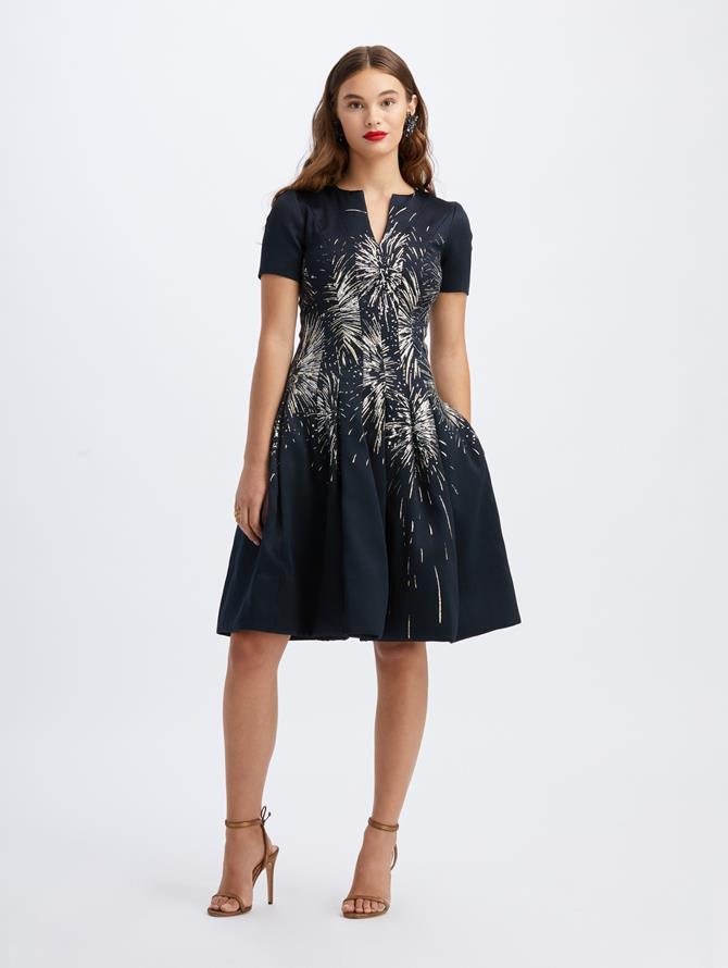 Jacquard Fireworks Cocktail Dress