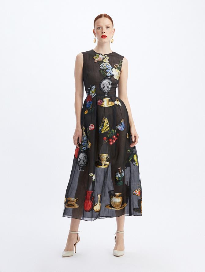 Chiaroscuro Fil Coupé Team Length Dress