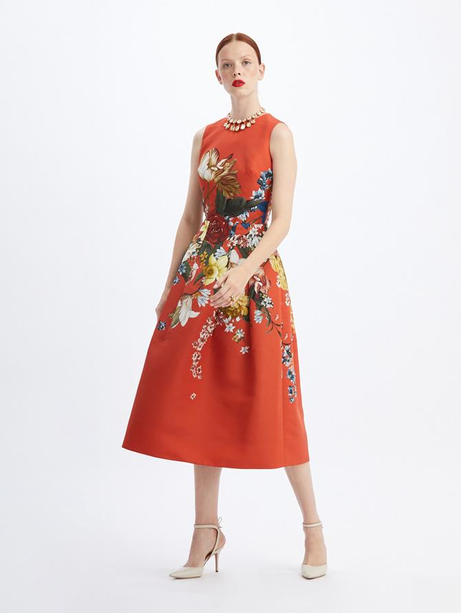 Bouquet Faille Cocktail Dress