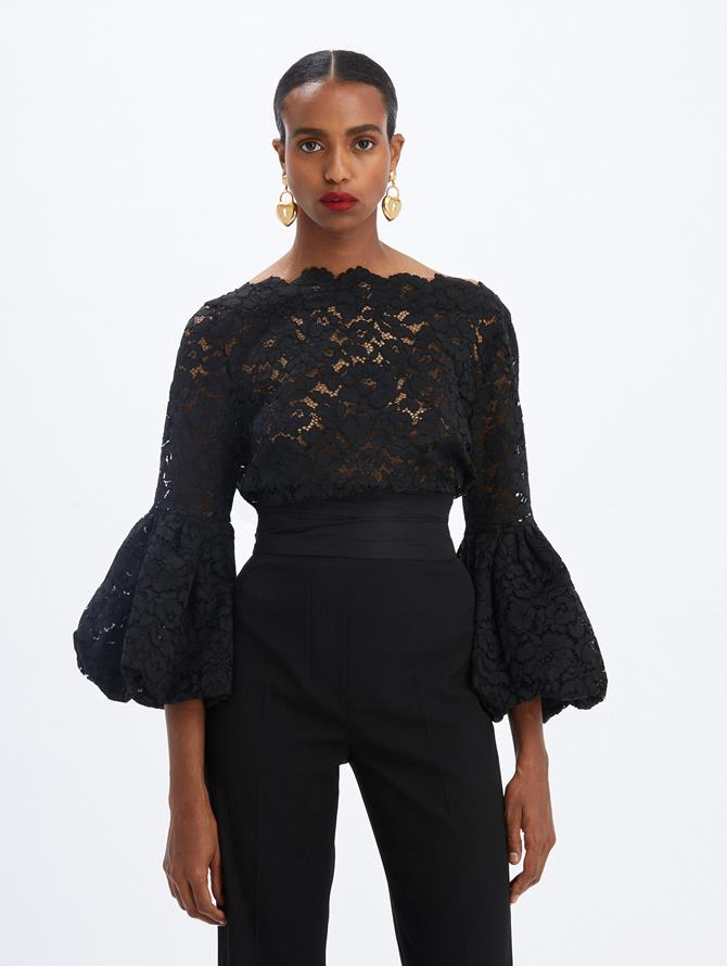 Lace Boatneck Blouse