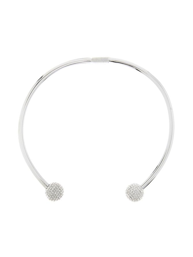 Pave Ball Collar Necklace