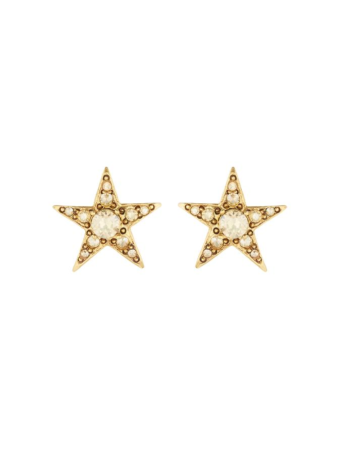 Star Button Earrings