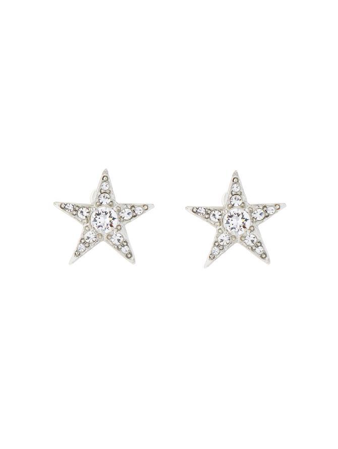 Star Button Earrings