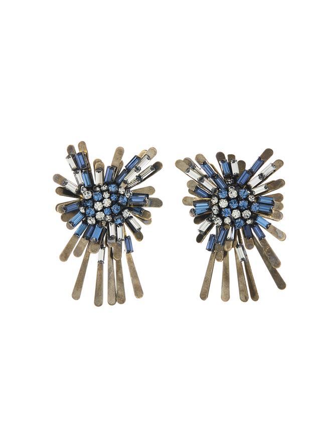 Metal Firework Earrings