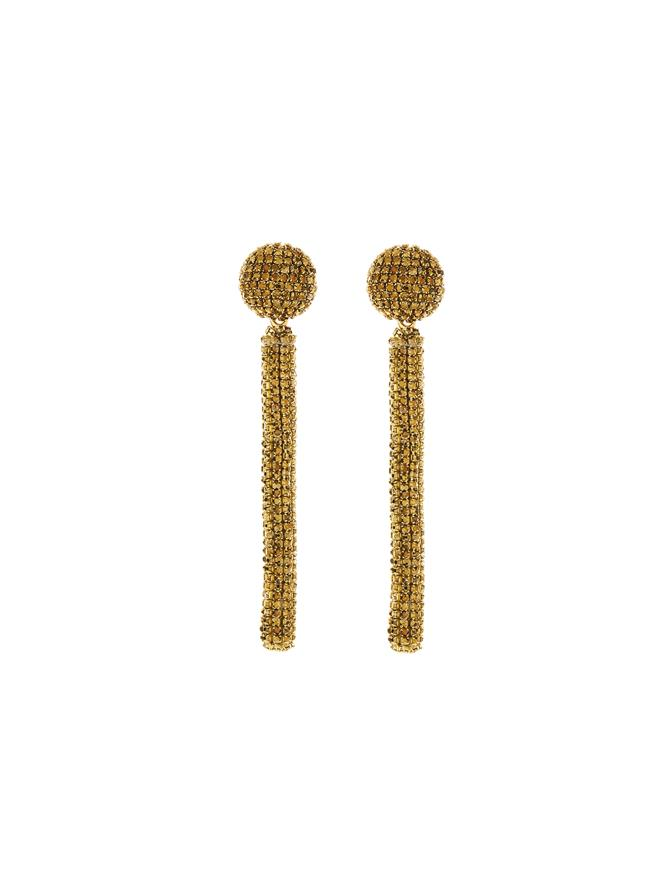 Embroidered Pave Earrings