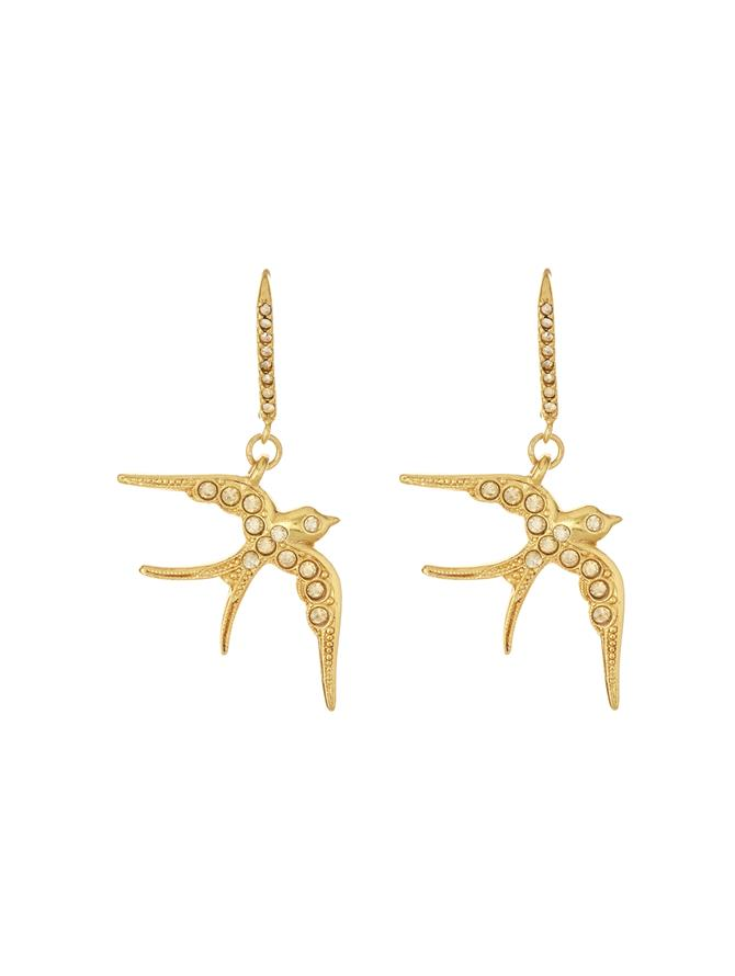 Pave Bird Earring