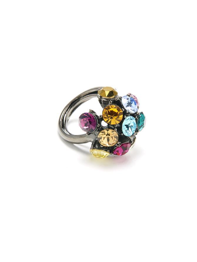 Crystal Globe Ring