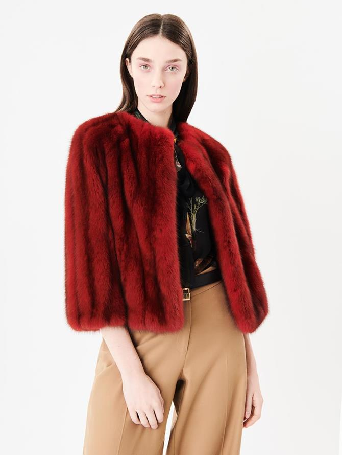 Sable Jacket Crimson
