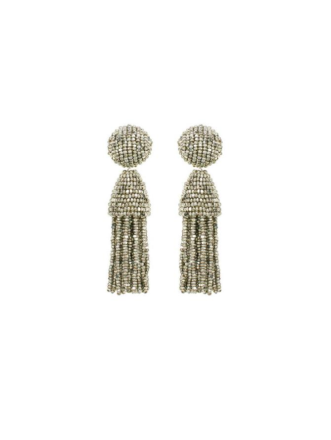 Champagne Classic Short Tassel Earring